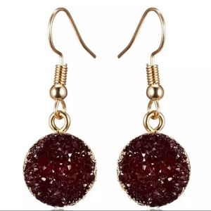 NEW Wine Red Drop Earrings